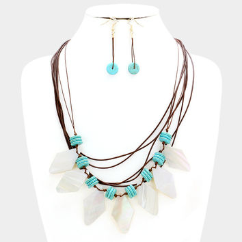 Mother Pearl Boho Necklace