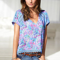 Crochet V-neck Top - Victoria's Secret