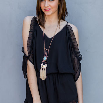Beautiful Mess Romper in Black