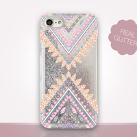 Pastel Tribal Glitter Phone Case - Transparent Case - Clear Case - Transparent iPhone 7 - Clear iPhone 7 Plus - Gel Case - iPhone 6/6S