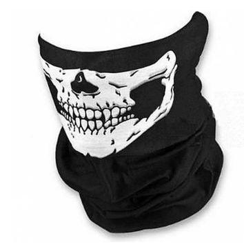 Halloween Mask Skull Skeleton Multi Function Motorcycle Bicycle Headwear Scarf Halloween Party Scary Horror Mask