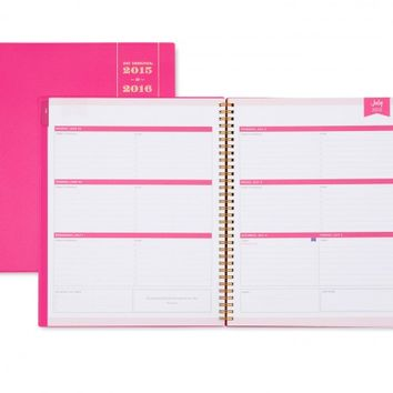 Day Designer Pink Weekly/Monthly 8.5 x 11 Planner July 2015 - June 2016