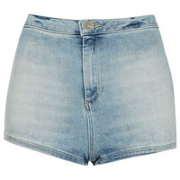 MOTO Bleach 50s Hotpant - Denim Shorts - Denim  - Clothing