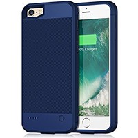 iPhone 6 6s Battery Case, 2800mAh Portable Protective Power Charging Case for iPhone 6 6s (4.7 inch) Extended Battery Charger Case Battery Pack Ultra Slim- Blue