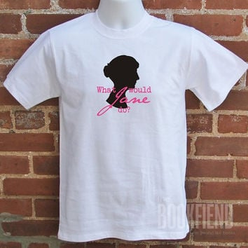 what would jane do classic fit tshirt by BookFiend on Etsy