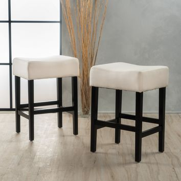 Coventry Fabric Backless Counter Stool (Set of 2)
