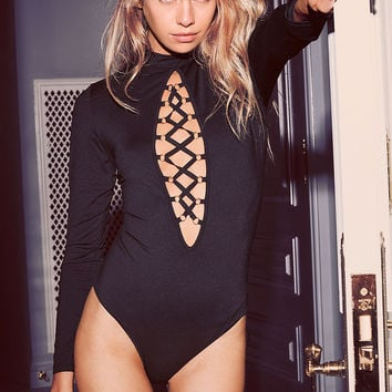Lace-up Keyhole Bodysuit - Very Sexy - Victoria's Secret
