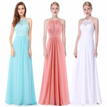 Formal Prom Dresses Long XX28980PEC Ever Pretty Women Cool Halter Sleeveless Party  Gowns Dresses 2017 New