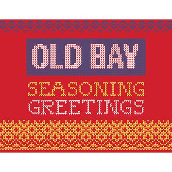 Seasoning Greetings (Red) / Christmas Card