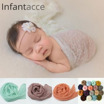 newborn photography props wrap accessories photo shoot prop blanket studio baby swaddle mohair soft stretch wraps for new born