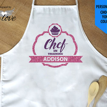 Chef in Training | Child's Gift | Kitchen Apron | Cooking Apron | Baking Apron | Child's Apron | Personalized Apron | Chef's Apron