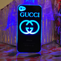 New Gucci LED Hard Cover Case For iPhone 5