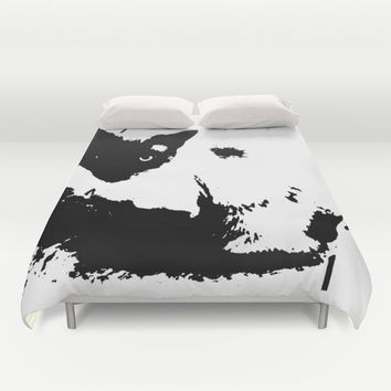 Siamese cat Duvet Cover by Paula Oliveira