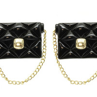 The Perfect Quilted Black Bag - THE EARRING