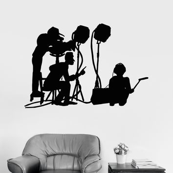 Vinyl Wall Decal Film Crew Movie Cinema Art Filming Room Decal Unique Gift (ig3056)