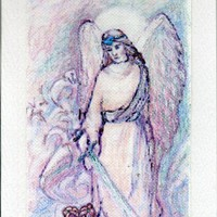 Archangel Small Print with Embroidery