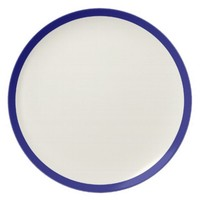 Ivory with Ultramarine Blue Trim Dinner Plate