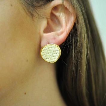 Josie Basketweave Earrings