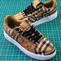 Burberry X Nike Air Force 1 Low Af1 Camo Sport Shoes - Best Online Sale