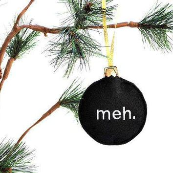Christmas Ornament  Home Decor Meh Embroidered Recycled Felt Funny Black Decoration Ornament