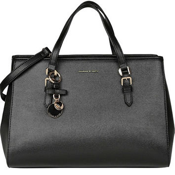 Women's Ladies Designer Leather Zara/Revolve Style Celebrity Tote Bag Smile Shoulder Handbag = 4627815748