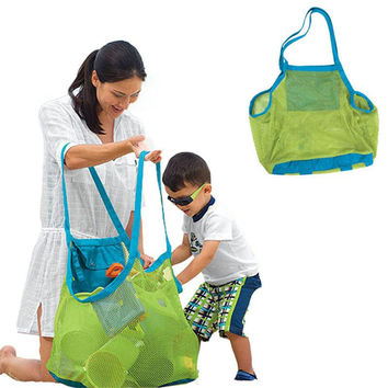 Applied Enduring Children sand away beach mesh bag Children Beach Toys Clothes Towel Bag baby toy collection nappy