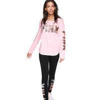 Bling Cotton Legging - PINK - Victoria's Secret