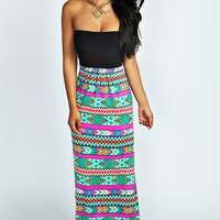 Josie Cut Out Back Bandeau Maxi Dress