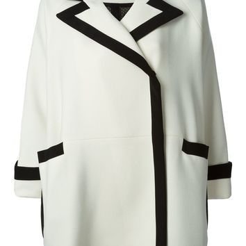 Gianluca Capannolo bell sleeves trimmed coat
