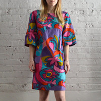 Groovy 70s Shift Dress