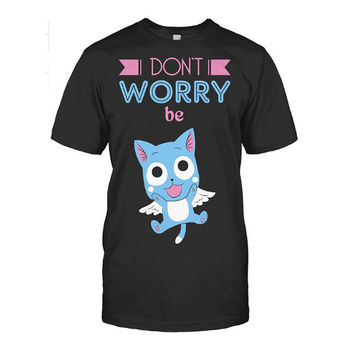 Fairy Tail - Dont worry be HAPPY -Men Short Sleeve T Shirt - SSID2016