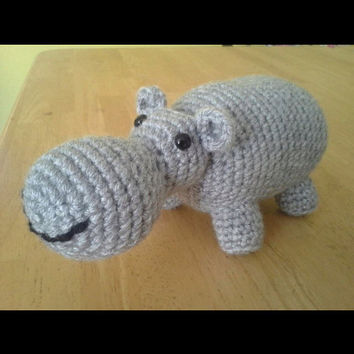 Hippo Crochet Amigurumi Stuffed Animal by HookAndStitches on Etsy