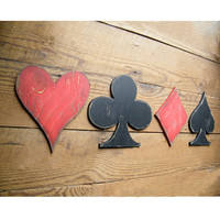 Card Symbols Sign Game Room Signs Heart Club Diamond Spade