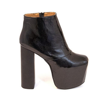 4767a5e86ec Jeffrey Campbell Big Love - Black Patent Platform Heel