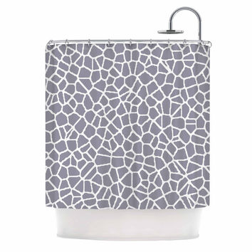 "Trebam ""Staklo II"" Gray White Shower Curtain"