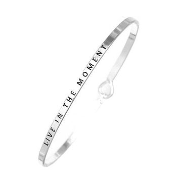 Live in the Moment Being Bangle