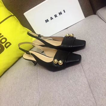 Marni Women Casual Shoes Boots  fashionable casual leather Women Heels Sandal Shoes