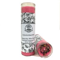 Love & Attraction 7 Day Soy Spell Candle (Fixed) for Relationships, Marriage Proposals & Commitment