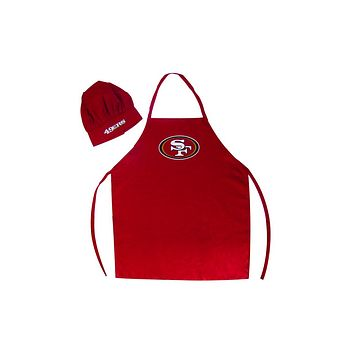 San Francisco 49ers Apron and Chef Hat Set