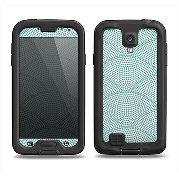 The Teal Circle Polka Pattern Samsung Galaxy S4 LifeProof Nuud Case Skin Set