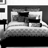 Black White Retro Printed bedding sets queen king size 4pcs cotton quilt/duvet cover bed linen bedclothes bedsheet home textile