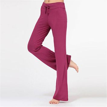 Women Pant Trousers Cotton Practice Pants Slimming Fitness Exercise Lounge Long Pant Hot Sale