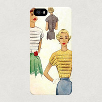 Vintage Women Sewing Patter iPhone 4 4s 5 5s 5c Samsung Galaxy S3 S4 Case