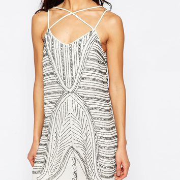 River Island Heavily Embellished Swing Dress