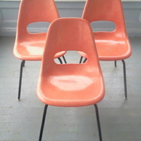 Rare and Beautiful,Vintage, Mid Century Modern, Fiberglass, Chairs (6 Available)