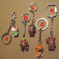 Hello Kitty Domo kun Deerie Doe Keyrings Your Choice