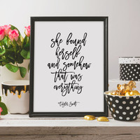 Taylor Swift Quote Print Lyrics Print Dorm Room Poster Wall Art Prints Typography Print at Home Printable quotes Printable Lyrics Wall decor