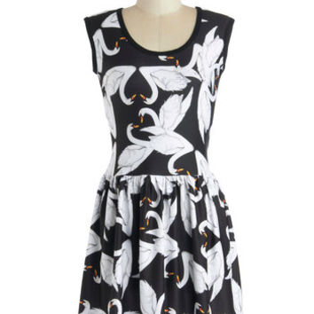 My Kinda Gallop Dress in Swans