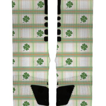 St Patrick's Day Plaid Custom Nike Elites