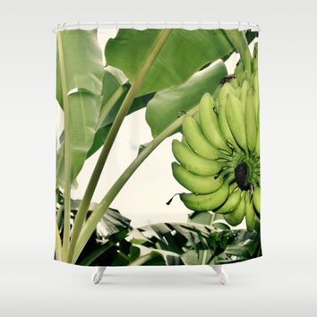 Costa Rican Bananas Shower Curtain by UMe Images